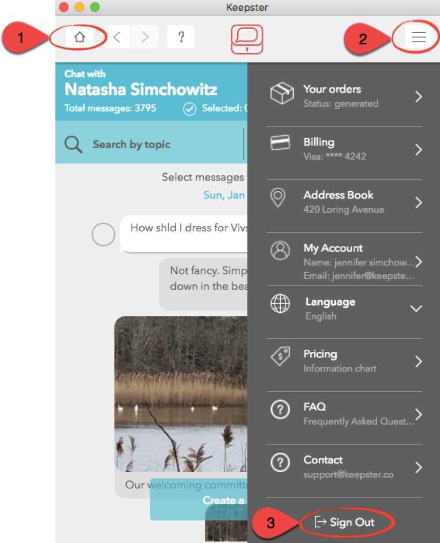 Navigate Keepster screenshot