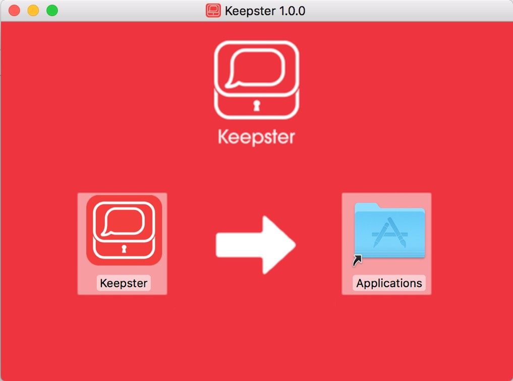 Installing Keepster screenshot